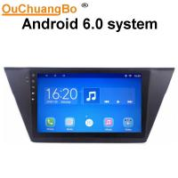 China Ouchuangbo car multimedia kit radio android 6.0 for Volkswagen Touran with gps navi steering wheel control on sale