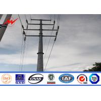 Transmission Line Hot Rolled Coil Steel Power Pole 33kv 10m Electric Utility Poles