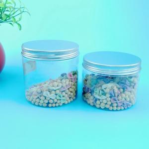 China Kitchen Countertop 400ML Plastic Screw Cap Jars Shrink Wrap Logo on sale