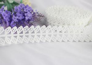 China Guipure Embroidery Water Soluble Polyester Lace Trim with Bilateral Leaves on sale