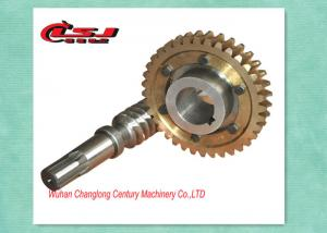 China Precision Construction Elevator Parts Self Locking Worm Gear For Worm Gearbox on sale