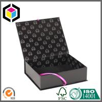 Black Color Printed Hair Extension Packaging Box; Luxury Gift Paper Box