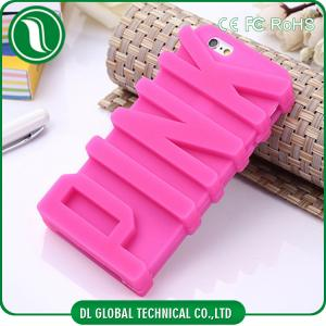 China Cute Silicone 3D Victoria Secret Pink Iphone 6 Cases with PINK Letters on sale