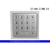 15 Keys Smart Door Access System Rugged Keypad Stainless Steel Outdoor
