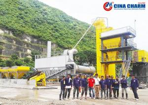 China Hot Mix Bitumen Asphalt Mixing Plant Large Scale Automatic For Construction on sale