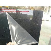 China Black artificial quartz slab on sale