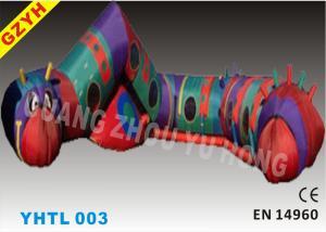 China Custom Kids Cartoon Carpenterworm Inflatable Sports Tunnel YHTL-003 with SGS ROHS EN71 on sale