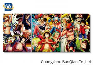 China Cartoon One Piece Picture For Wall Decoration , 3d Flip Changing Picture / Poster on sale