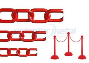 China ISO Approved Decorative Lightweight Red Plastic Safety Chain For Street on sale