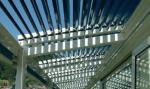 Powder Coating Louvered Pergola Fitting Structure Heat Protection Rainproof