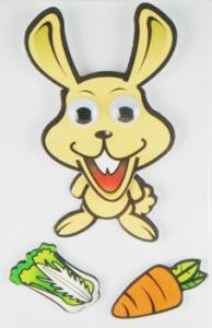 China DIY Removable 90s Cartoon Stickers , Funny Cute Rabbit Wall Stickers on sale