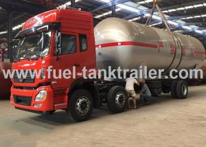 China Water Cooled Red Color 6x4 Lpg Tanker Trailer 2.22MPa Hydrostatic Pressure on sale