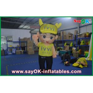 China 2M Middle Outsite Yellow Inflatable Cartoon Characters Exquisite For Childern on sale