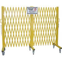 China Warehouse Heavy Duty Steel Portable Folding Security Gates With Warning Label on sale