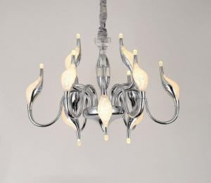 China Classic Chrome Aluminum LED Swan Chandeliers for Living Room on sale