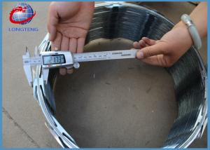 China Customized Concertina Razor Wire / Barbed Wire Roll Blue Color Easy Install on sale