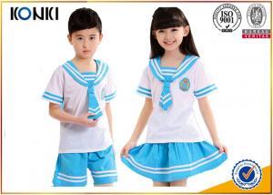 China Lapel Collar Custom School Uniform  Elementary School Students Clothes on sale