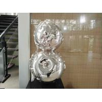 China Contemporary Art Stainless Steel Sculpture , Metal Garden Statues Sculptures on sale
