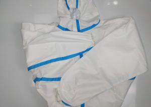 China White Microporous Medical Scrub Suits Disposable Coverall With Hood Anti Virus Suits on sale