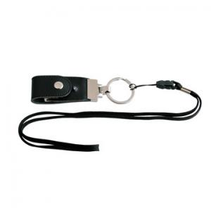 China Customized Brown/black leather usb flash memory disk with keyring  (MY-UL03) on sale
