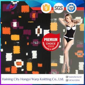 China Custom Printed Chlorine Resistant Lycra Nylon Spandex Swimwear Fabric on sale