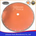 "14"" Sintered Diamond Turbo Saw Blade for Wet Cutting Hard Fire Bricks with Hot Press"