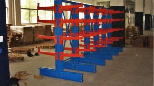 China Adjustable Cantilever Storage Racks For Lumber , Plywood , PVC , Metal / Bar Stock on sale