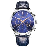 China Multifunction Men Watch with Leather Strap on sale