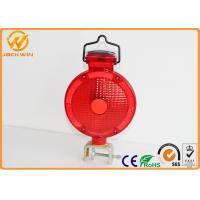 Traffic Barricade Lamp Solar LED Strobe Warning Lights Red Yellow Road Safety