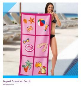 China Custom printed promotional beach towel / bath towel on sale