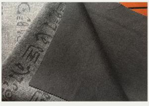 China Gray Knit Jacquard Fabric With Oracle Bone Inscriptions , Woven Jacquard Fabric on sale