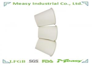 Quality 10OZ White Disposable Paper Cups For Hot Coffee , Customized Logo paper drinking for sale