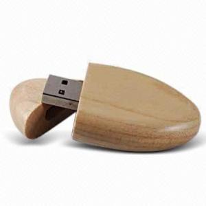 China Capacité 32GB, interface à grande vitesse de bambou ovale de forme/entraînement en bois d'USB vraie d'USB 2,0 on sale