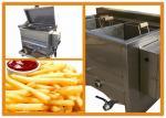 機械で造らせます機械/産業ポテト チップ/揚げ物の鶏の機械/倍のバスケットを半自動ポテト チップ