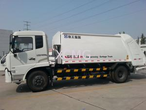 China Garbage Compactor Truck Special Purpose Vehicles , Self Dumping Rear Loader Garbage Trucks on sale