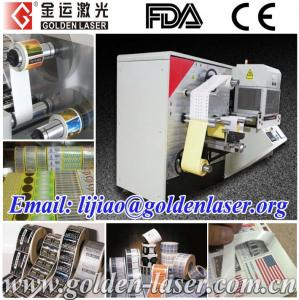 China Automatic Laser Cutter Printed Stickers In Roll on sale
