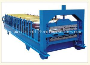 China 0.3mm - 0.8mm Color Steel , 12Mpa Roof Double Layer Roll Forming Machine on sale