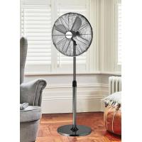 "16"" Oscillating 4 Blade Electric Retro Floor Standing Fan Metal Brass style"