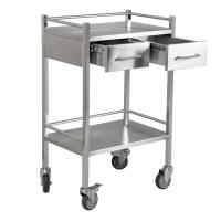 China Clean laboratory stainless steel utility cart with drawers, lab & medical cart RCS-LAB211 on sale