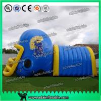 China Colorful PVC Inflatable Helmet Tunnel / Inflatable Football Helmet Tunnel on sale