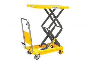 China Portable Lightweight Double Scissor Lift Table Hand Operated 700 * 450 * 35mm on sale