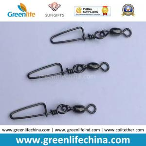 China Standard Black Rolling Swivel with Good Quality Snap Carp Fishing Swivel Connectors on sale