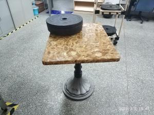 China Vintage Table Base Cast Iron Powder coating Tulip Table Base BIFMA Stable test on sale