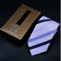 China custom printed luxury paper packaging necktie gift box with window and color customized on sale