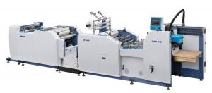China Automatic Embossing Photo Lamination Machine With Two Sides Slotting Device on sale