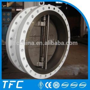 China API 594 double flange dual plate check valve on sale