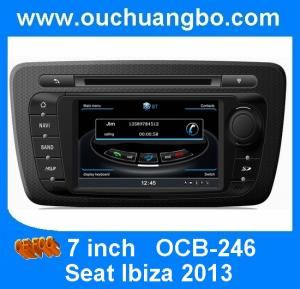 China Ouchuangbo Car DVD Navi Multimedia System For Seat Ibiza 2013 S100 3GWifi Digital TV on sale