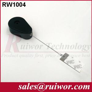 Quality 50,000 Times Retail Security Tether With Gluey Dog Tag / Stainless Steel Cable for sale