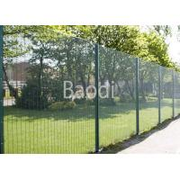 "3"" X 0.5"" Anti Burglar Fence For Water Treatment Works , Plastic Coated Wire Fencing Panels"