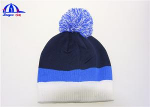 China Colorful Hip Hop Beanies Knitted Beanie / Custom Winter Beanie Hats withTop Ball on sale